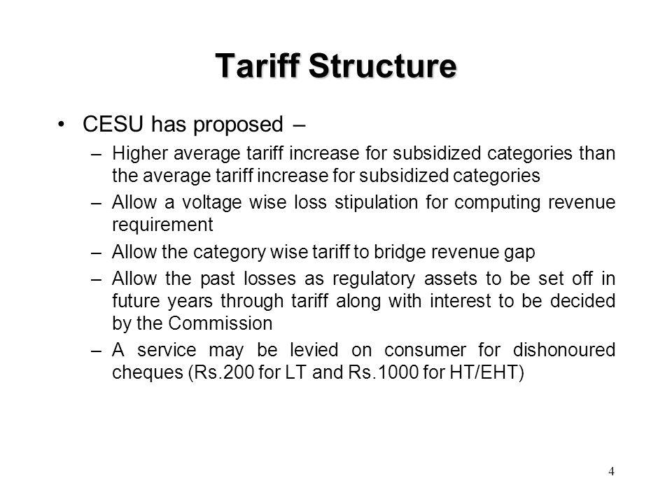 5 Tariff Structure…Contd..