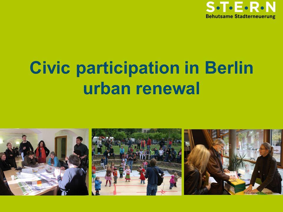 Civic participation in Berlin urban renewal