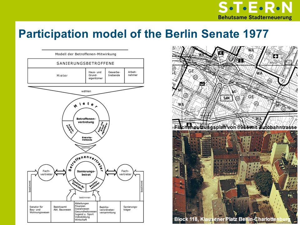 Participation model of the Berlin Senate 1977 05.06.201410 Flächennutzungsplan von 1964 mit Autobahntrasse Block 118, Klausener Platz Berlin-Charlotte