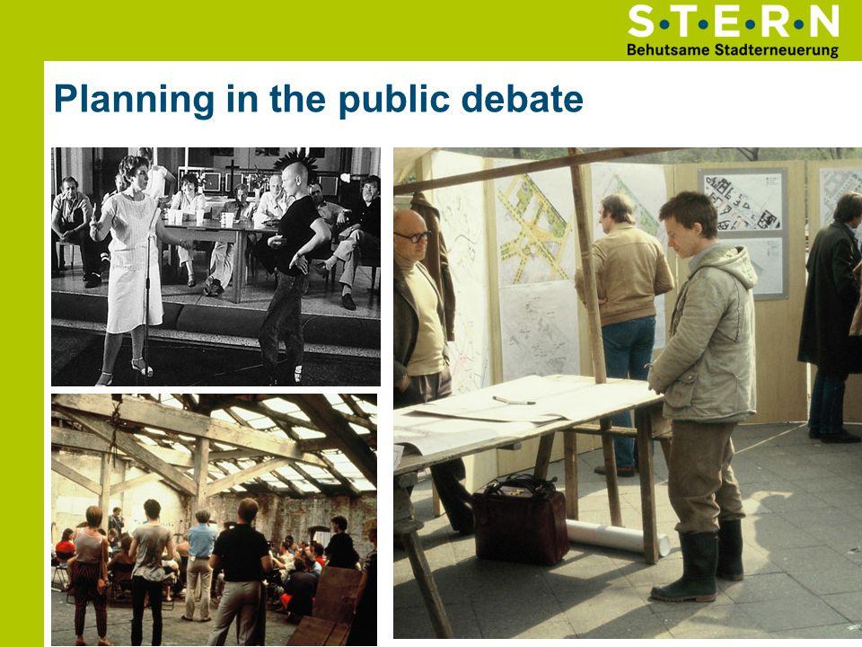 Planning in the public debate 12