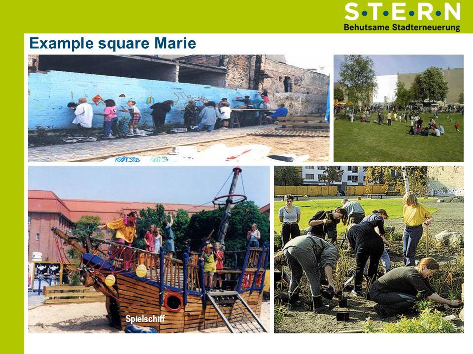 Example square Marie Kinder-Wandbild HimmelVolkspark Spielschiff Gemeinsame Pflanzaktion