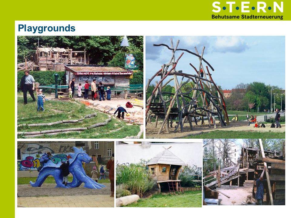 Playgrounds Wasserspielplatz Schulhof Gleimstraße Spielplatz Lychener StraßeBauspielplatz Kolle Spielplatz Mauerpark