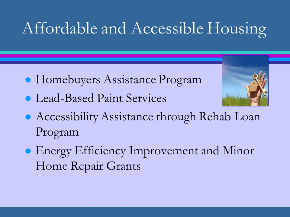 Public Services l Food and/or Meal Distribution l Services for Foster Youth, Emancipated Foster Youth, and/or Youth Experiencing Homelessness l Tenant-landlord counseling l Services for Seniors/Persons with Disabilities l Emergency Response Assistance