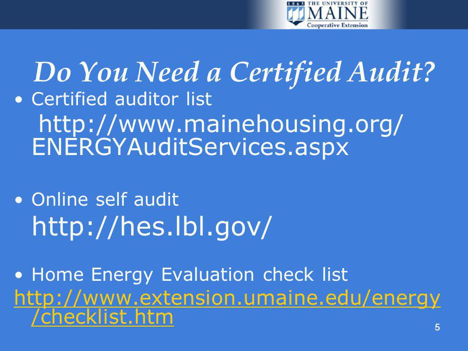 5 Do You Need a Certified Audit.