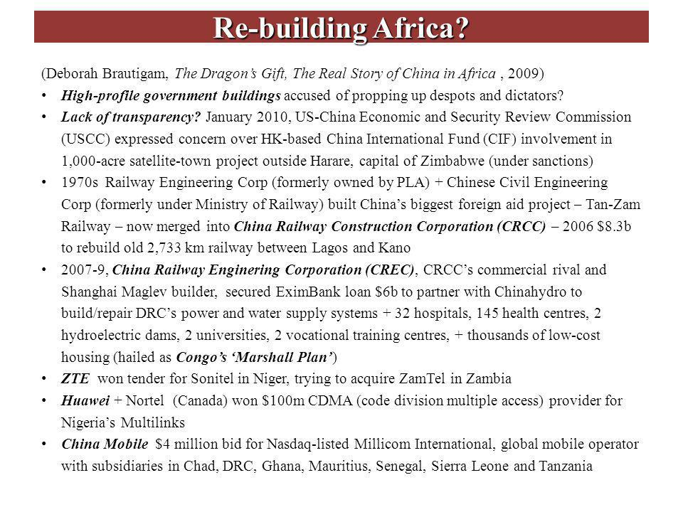 Re-building Africa.