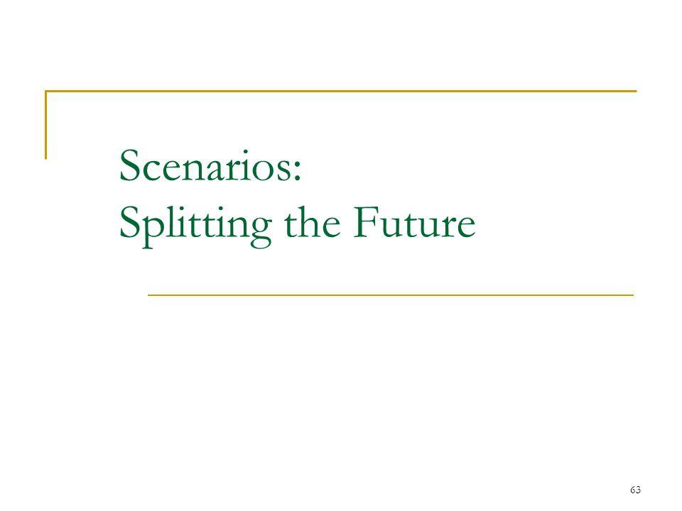 Scenarios: Splitting the Future 63