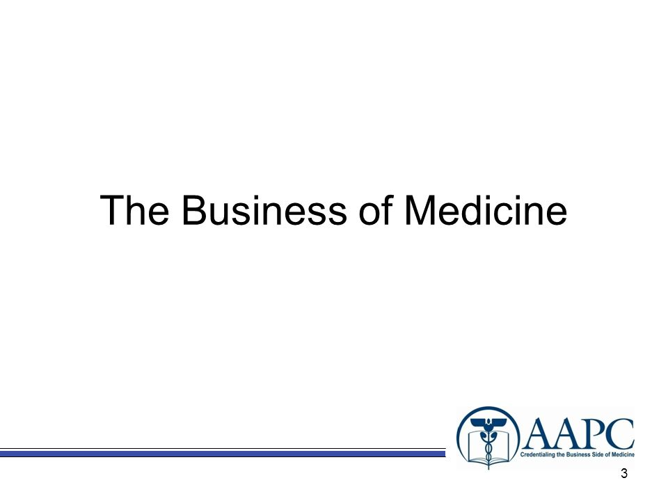 The Business of Medicine 3