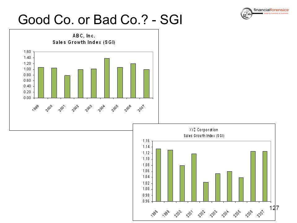 Good Co. or Bad Co.? - SGI 127