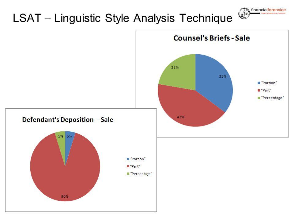 LSAT – Linguistic Style Analysis Technique