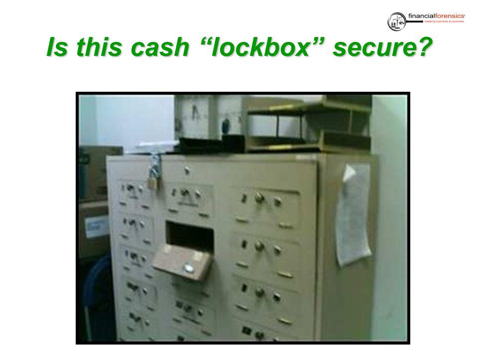 Is thiscashlockbox secure? Is this cash lockbox secure?