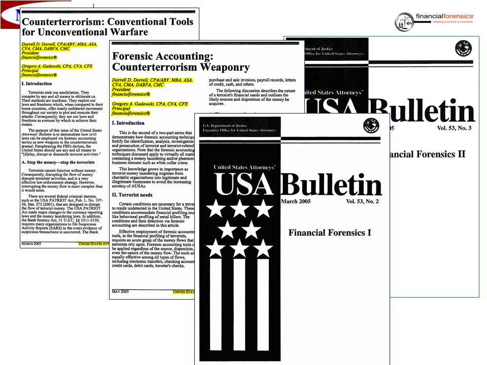 Selected Valuation/Forensic Accounting Cases: alter ego: Forest products, services businesses, merger & acquisition Anti-trust: Forest products Bankruptcy dismissal (Chapter 13): Health care Beach of contract: Manufacturing, distribution, health care, banking, transportation Copyright: Art work, publications ESOPs, 401(k) share redemption: Dealerships, manufacturing Estate 706: manufacturing, distribution, construction, raw land, electronics, apartments Forensic accounting: Civil and criminal; private sector, public sector Fraud: Civil and criminal; private sector, public sector Fraudulent conveyance/transfer: Health clubs, finish carpentry Gifting 709: Securities, real property (residential/commercial) Information technology: Software, hardware Internet companies: B2B, B2C ISOs/ESOs: Black-Scholes, lattice/binomial Lending/Financing: Banks, borrowers Lost profits: Construction, manufacturing, distribution Marital Dissolution: Equitable distribution, community property Merger/Acquisition: Pre-transaction and post-transaction analysis Patent: Reasonable royalty, et al Public Sector: Jail Costing/Pricing Study, Public Funds Mismanagement Solvency/Insolvency: Wholesale distribution, agricultural Trademark; Trade Dress: Specialized tools Trade Secrets: Cell phone software 8