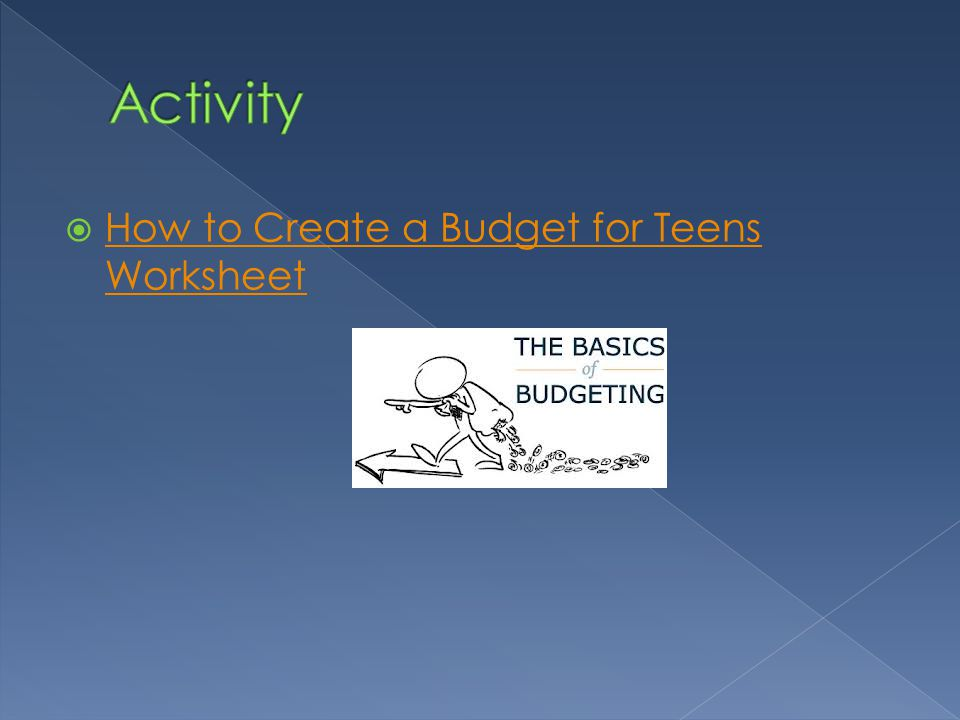 How to Create a Budget for Teens Worksheet How to Create a Budget for Teens Worksheet