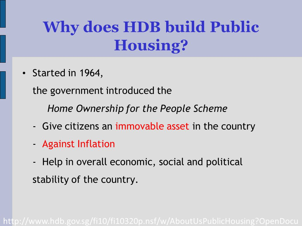 Why does HDB build Public Housing.