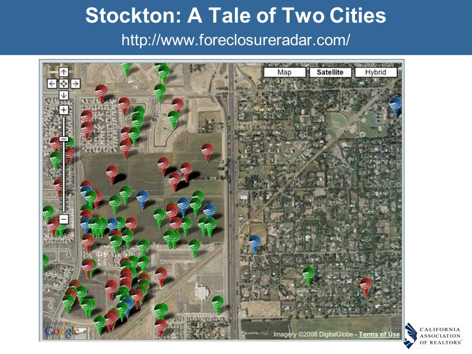 Stockton: A Tale of Two Cities http://www.foreclosureradar.com/