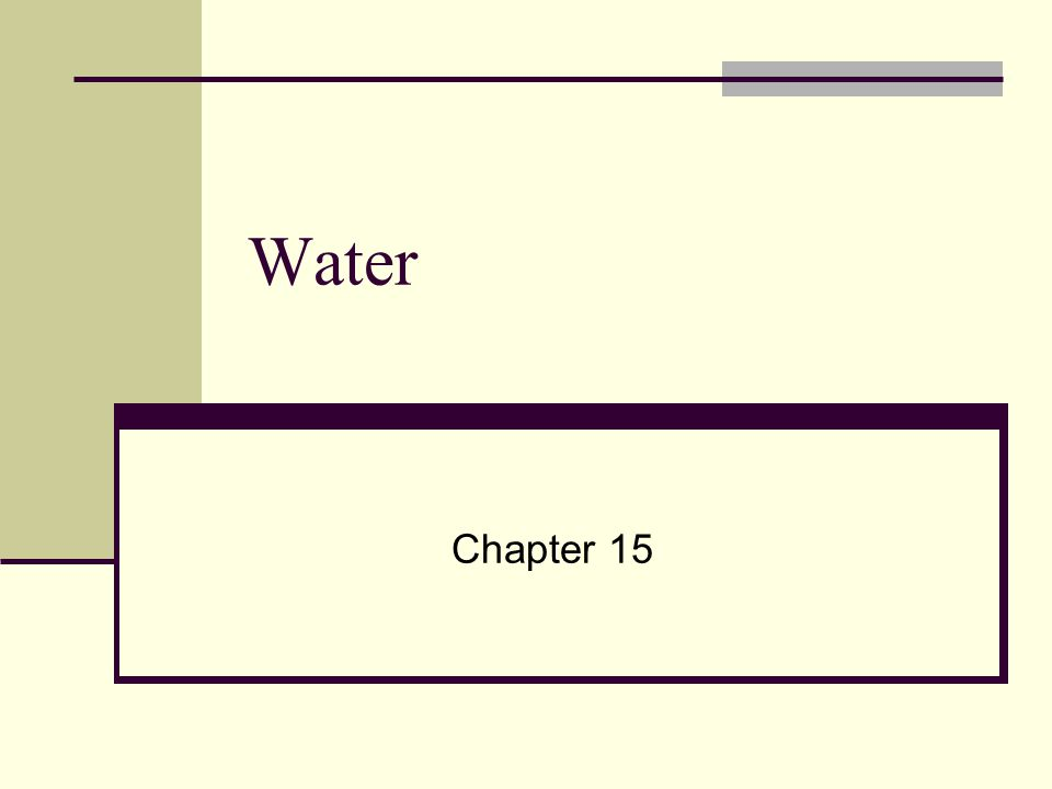 Water Chapter 15