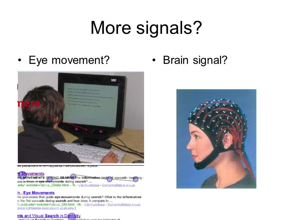 More signals Eye movement Brain signal