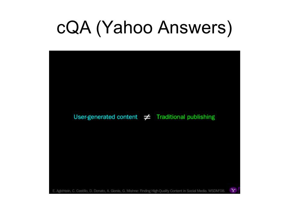 cQA (Yahoo Answers)