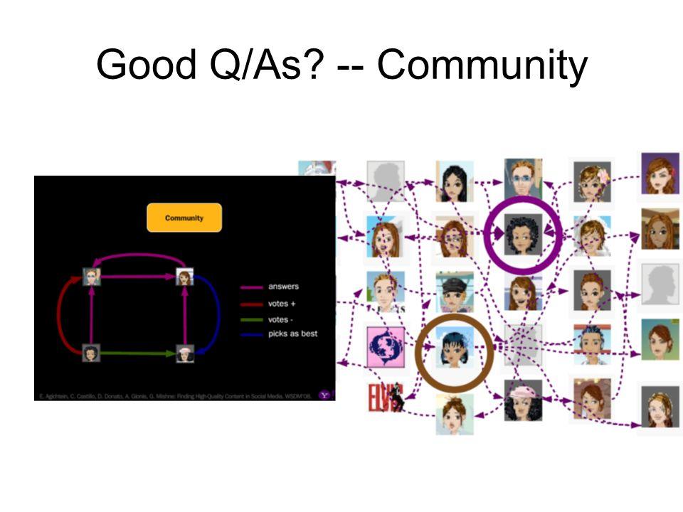 Good Q/As -- Community