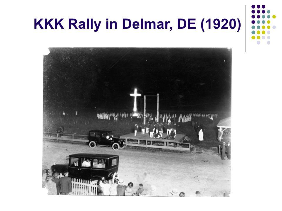 KKK Rally in Delmar, DE (1920)