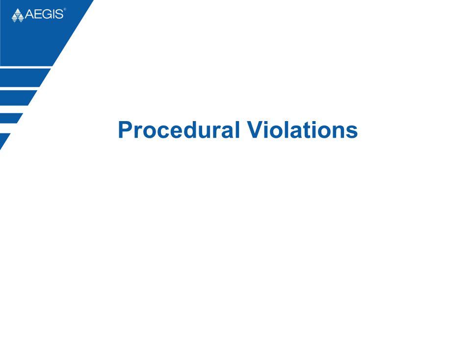 Procedural Violations