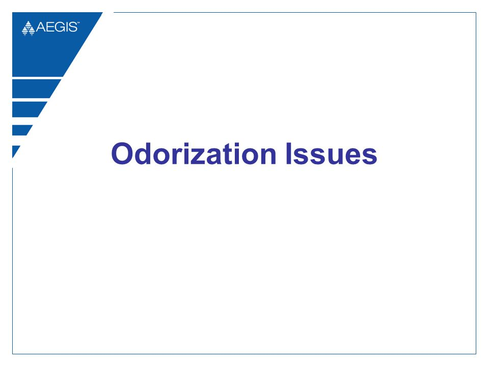 Odorization Issues