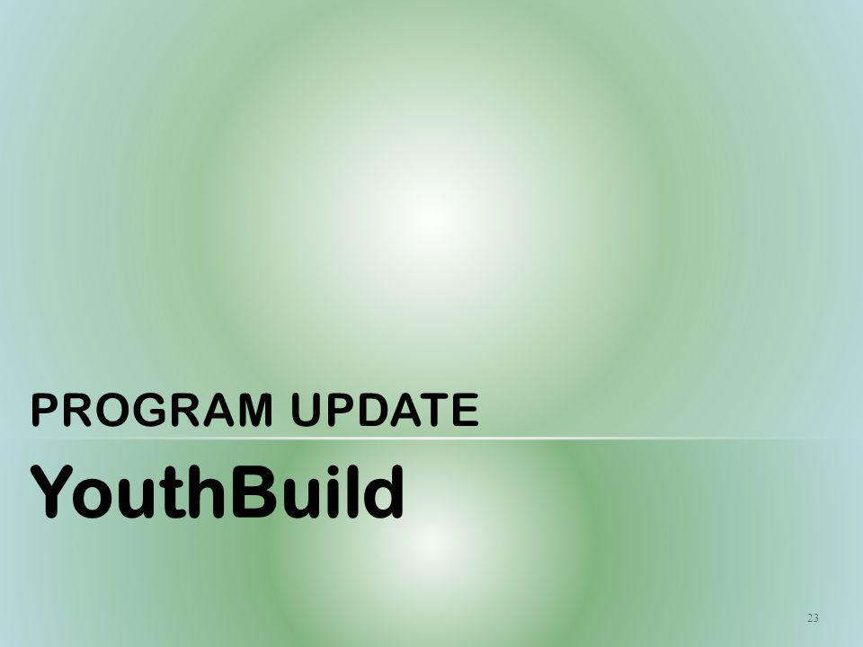 PROGRAM UPDATE YouthBuild 23