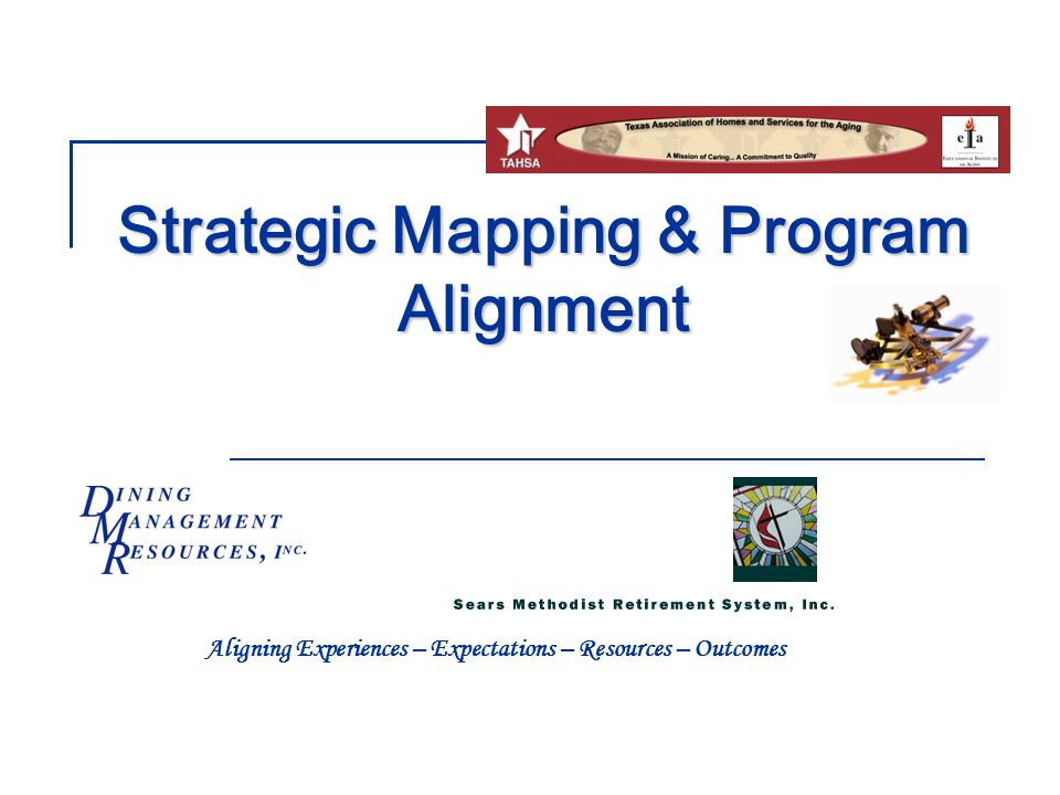 Strategic Mapping & Program Alignment Aligning Experiences – Expectations – Resources – Outcomes