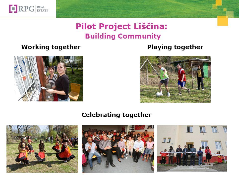 Pilot Project Liščina: Building Community Working togetherPlaying together Celebrating together