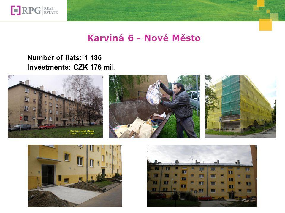 Karviná 6 - Nové Město Number of flats: 1 135 Investments: CZK 176 mil. Foto opravené
