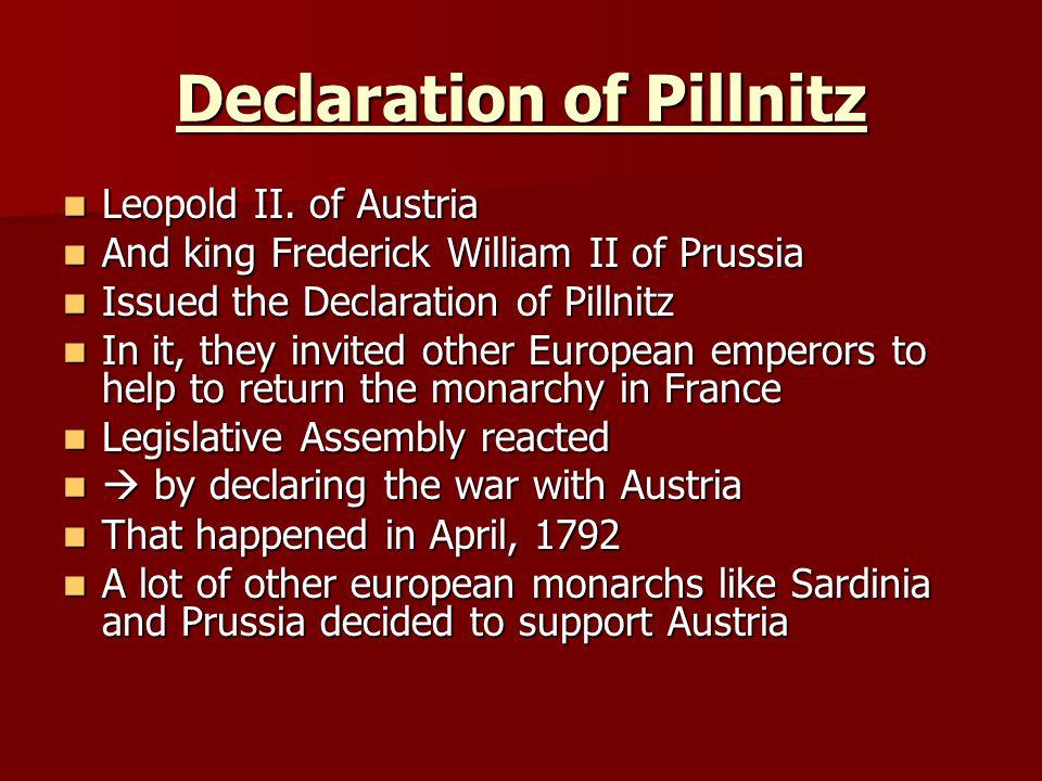 Declaration of Pillnitz Leopold II.of Austria Leopold II.