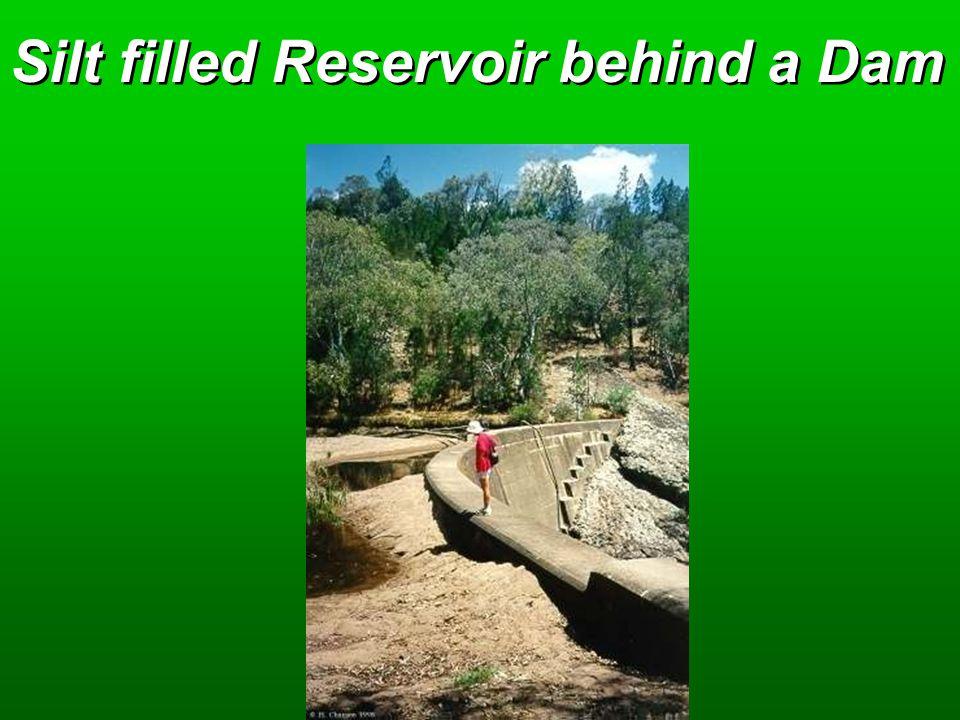 Silt filled Reservoir behind a Dam
