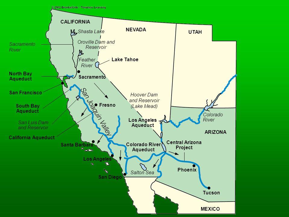North Bay Aqueduct South Bay Aqueduct California Aqueduct CALIFORNIA NEVADA UTAH MEXICO Central Arizona Project Colorado River Aqueduct Los Angeles Aq