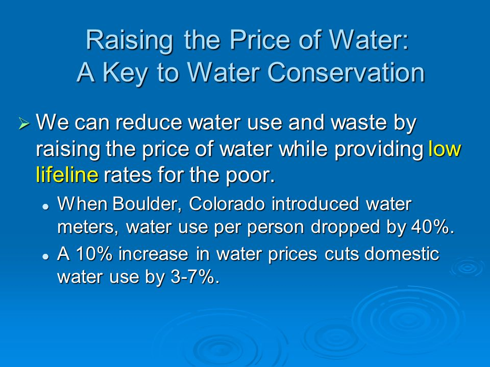 Solutions: Using Less Water to Remove Industrial and Household Wastes We can mimic the way nature deals with wastes instead of using large amounts of high-quality water to wash away and dilute industrial and animal wastes.