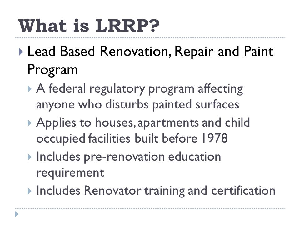 What is LRRP.