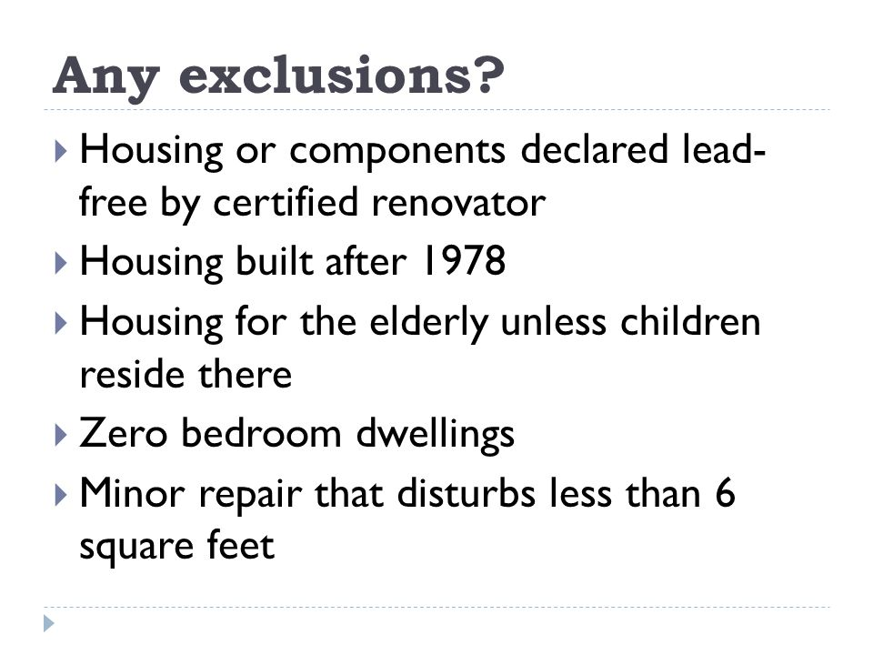 Any exclusions.