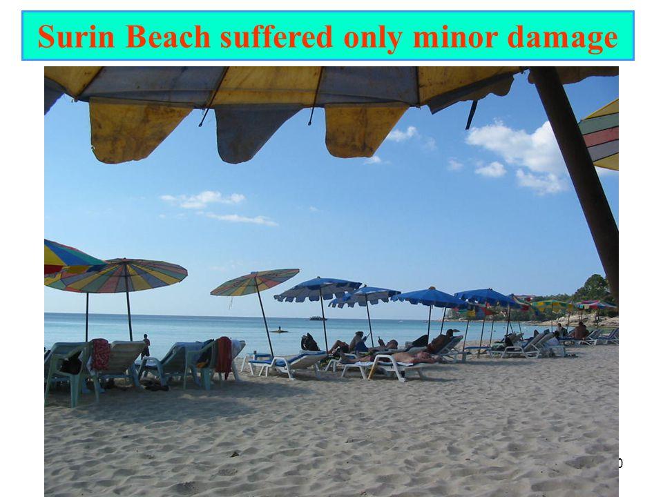 20 Surin Beach suffered only minor damage
