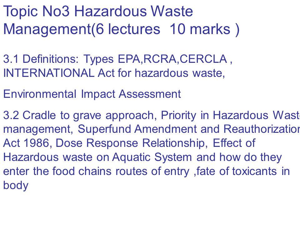 Hazardous Waste Management ENV 00183