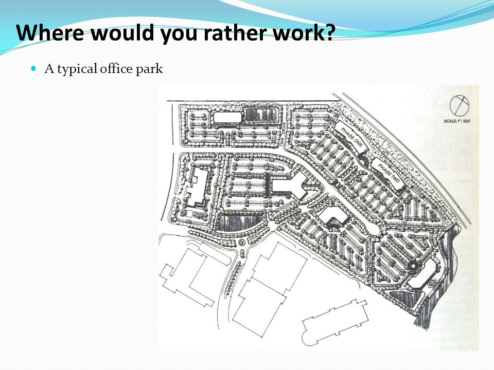 Where would you rather work? A typical office park