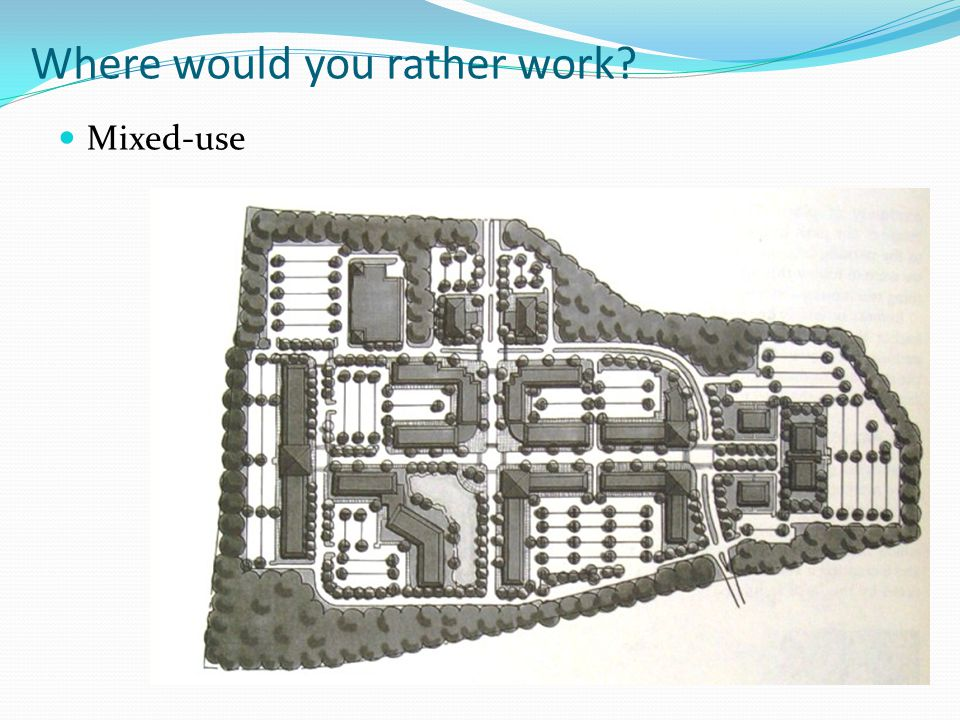 Where would you rather work? Mixed-use