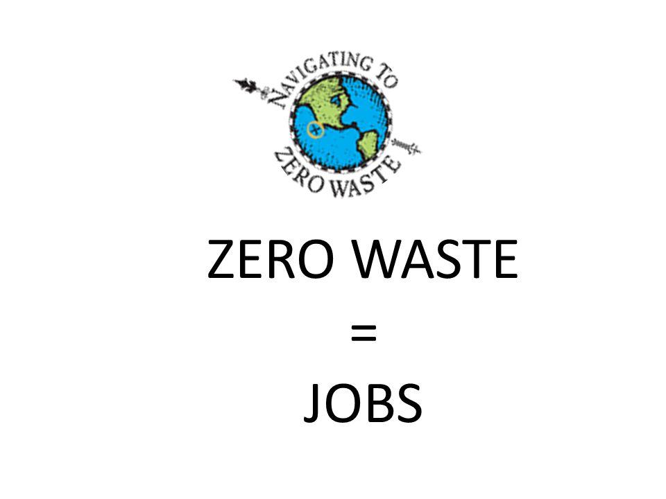 ZERO WASTE = JOBS