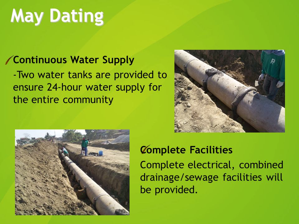 Continuous Water Supply - Two water tanks are provided to ensure 24-hour water supply for the entire community Complete Facilities Complete electrical