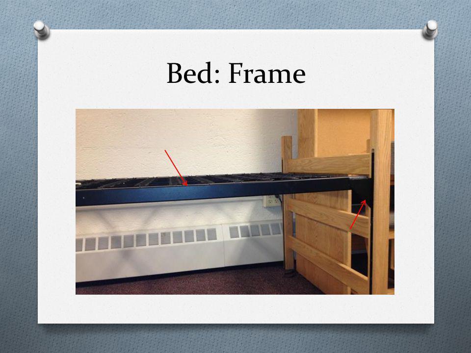 Bed: Frame