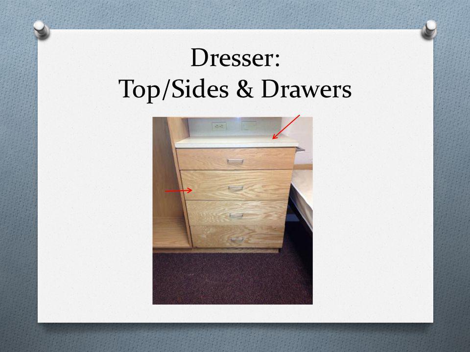 Dresser: Top/Sides & Drawers