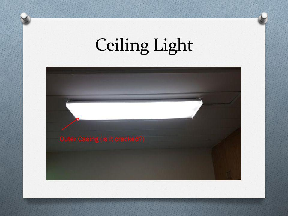 Ceiling Light Outer Casing (is it cracked?)