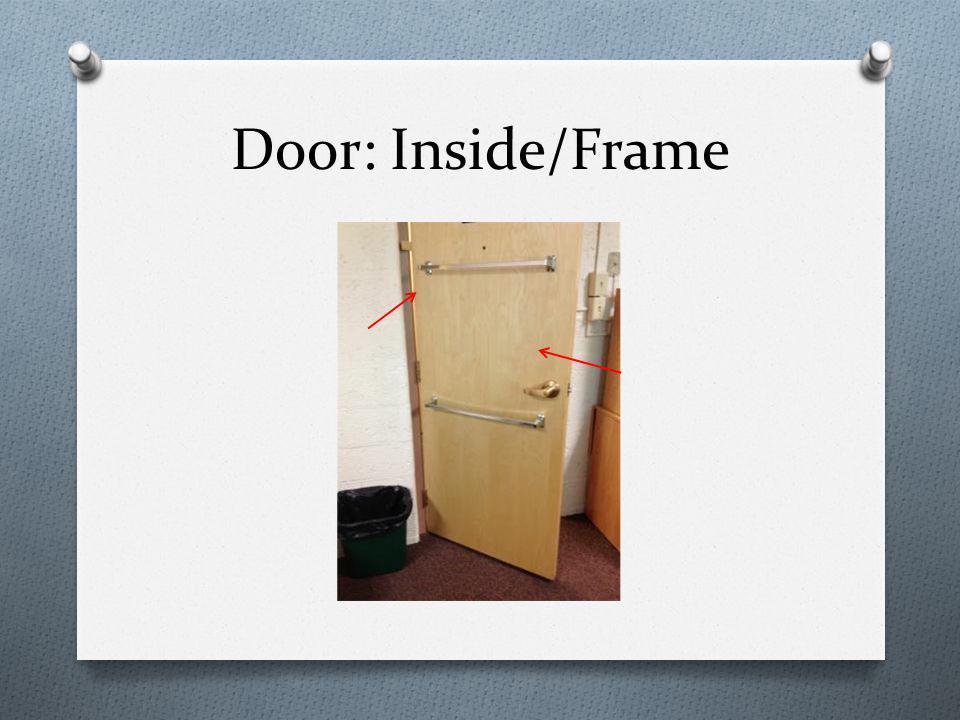 Door: Inside/Frame