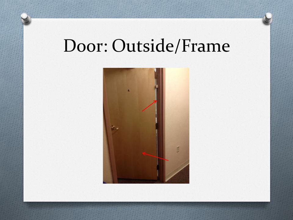 Door: Outside/Frame
