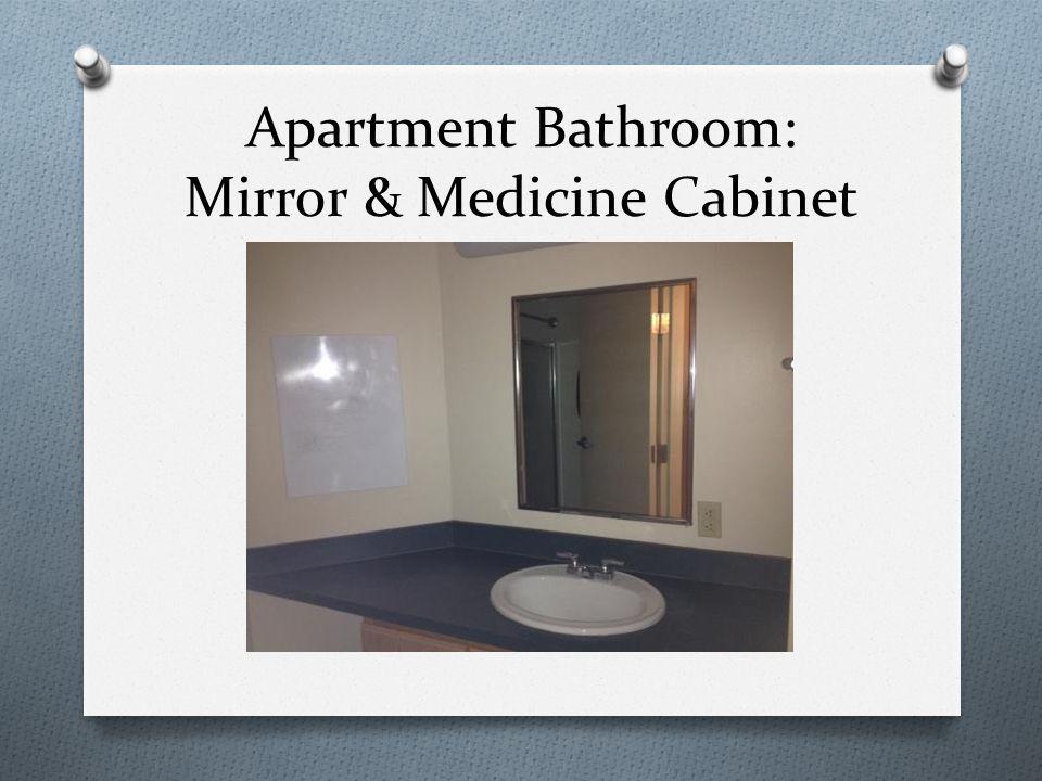 Apartment Bathroom: Mirror & Medicine Cabinet