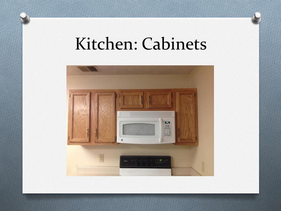 Kitchen: Cabinets