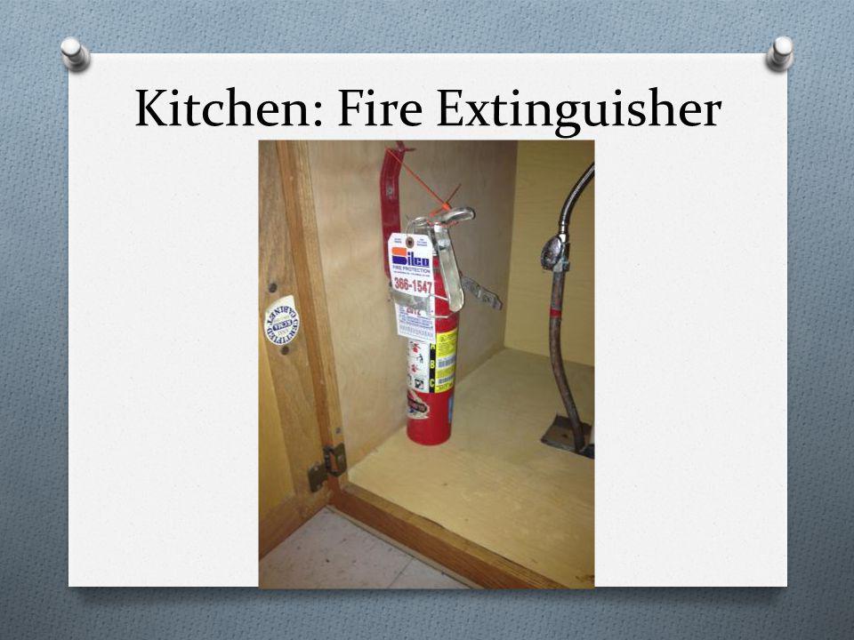 Kitchen: Fire Extinguisher
