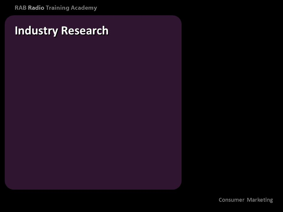 RAB Radio Training Academy Industry Research Consumer Marketing